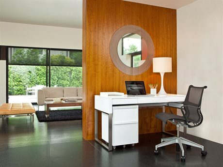BDI Cascadia Satin White Office Set