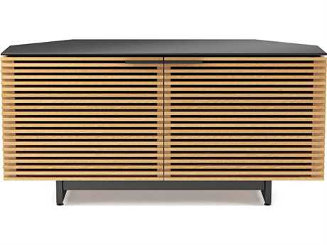 BDI Corridor 51'' x 20'' White Oak Corner Cabinet TV Stand BDI8175WOK