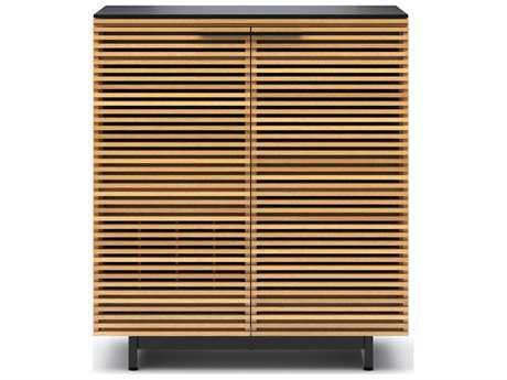 BDI Corridor 36'' x 18.5'' White Oak Compact Bar Cabinet BDI5620WOK