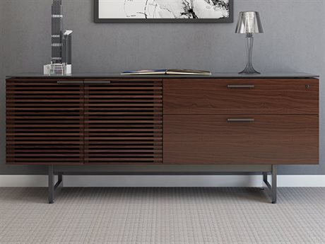 BDI Corridor 70''W x 18''D Chocolate Stained Walnut Office Credenza