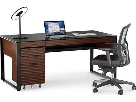 BDI Corridor Executive Office Chocolate Stained Walnut Executive Office Set