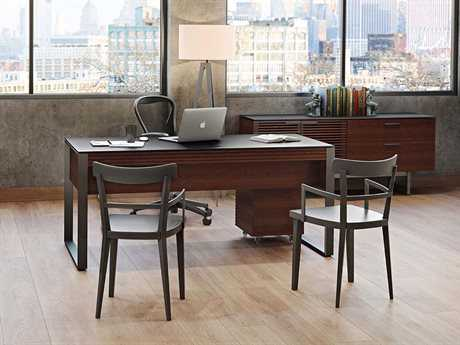 BDI Corridor Executive Office Chocolate Stained Walnut Executive Office Set BDI6521CWLSET4