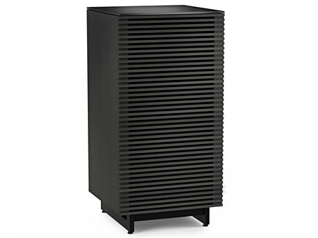 BDI Corridor 22''L x 22''W Charcoal Stained Ash Enclosed Audio Tower BDI8172CRL