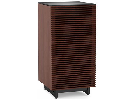 BDI Corridor Chocolate Stained Walnut Enclosed Audio Tower BDI8172CWL