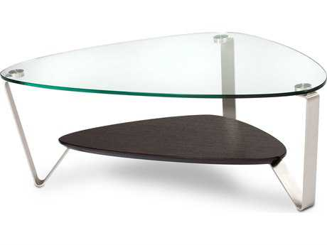 BDI Dino 44'' x 27'' Soft Triangular Espresso Stained Oak Small Coffee Table BDI1344ES
