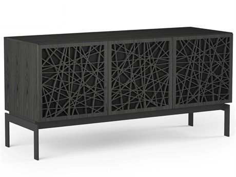 BDI Elements Charcoal Stained Ash 59''L x 20''W Triple-Width Media & Storage Console BDI8777RCCOCRL