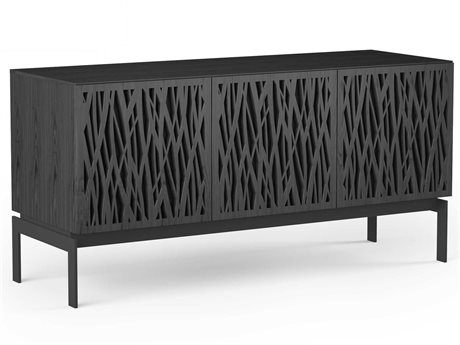 BDI Elements Charcoal Stained Ash 59''L x 20''W Triple-Width Media & Storage Console BDI8777WHCOCRL