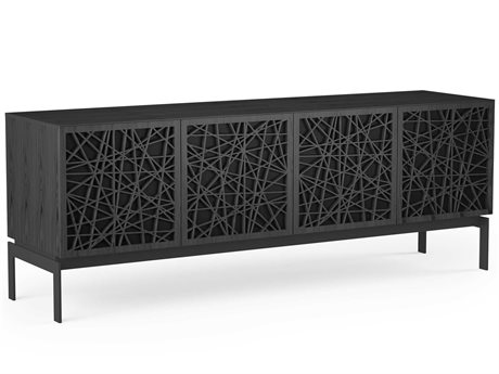 BDI Elements Charcoal Stained Ash 79''L x 20''W Quad-Width Media & Storage Console BDI8779RCCOCRL