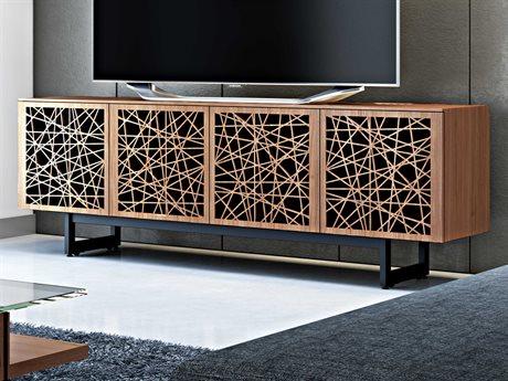 BDI Elements Natural Walnut 79''L x 20''W Quad-Width Media & Storage Cabinet BDI8779RCMEWL