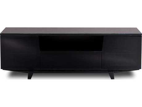BDI Marina 73'' x 22'' Gloss Black Triple Wide Enclosed TV Stand BDI87292B