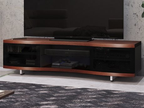 BDI Ola 69'' x 21'' Chocolate Stained Walnut Triple Wide Enclosed TV Stand BDI8137CWL