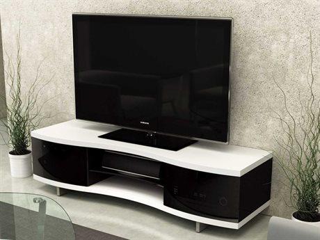 BDI Ola 69'' x 21'' Satin White Triple Wide Enclosed TV Stand BDI8137SW