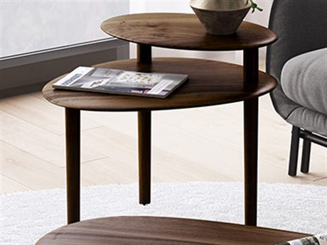 BDI Orlo Toasted Walnut 28'' Wide End Table BDI1956TWL