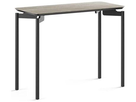 BDI Radius Concreta / Black 26'' Wide Rectangular End Table