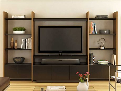 BDI Semblance Home Theater 130'' x 22'' Three-Section Entertainment Center BDI5423TJ