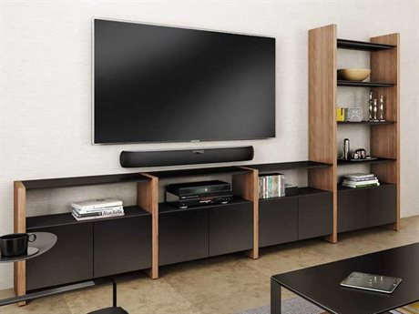 BDI Semblance Home Theater 131'' x 16.5'' Four-Section High & Low Entertainment Center BDI5454GH
