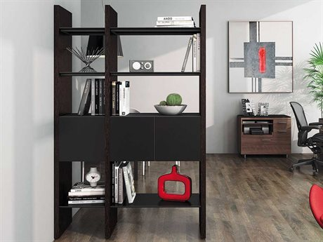 BDI Semblance Storage 51L x 79.5H Two-Section Display Bookcase BDI5402CB