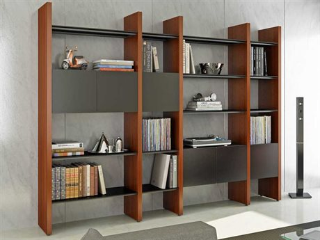 BDI Semblance Storage 100L x 79.5H Four-Section Display Bookcase BDI5404GB
