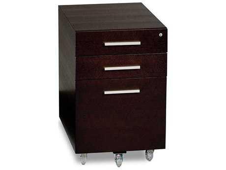 BDI Sequel 16'' x 21'' Espresso Three Drawer Mobile Locking File Cabinet BDI60072ES