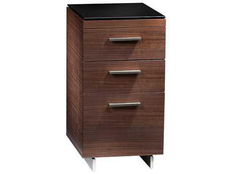 BDI Sequel 15.5'' x 18'' Natural Walnut Three Drawer File Cabinet BDI6014WL