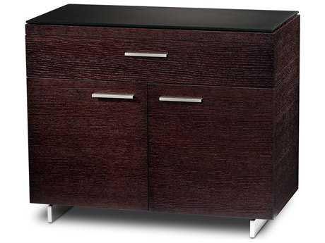 BDI Sequel 35'' x 18'' Espresso Stained Oak Three Drawer Storage File Cabinet