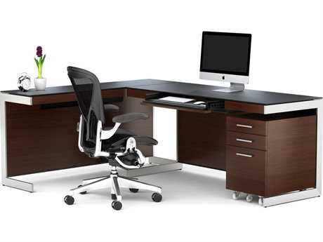 BDI Sequel Chocolate Stained Walnut Office Set