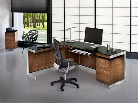 BDI Sequel Natural Walnut Office Set