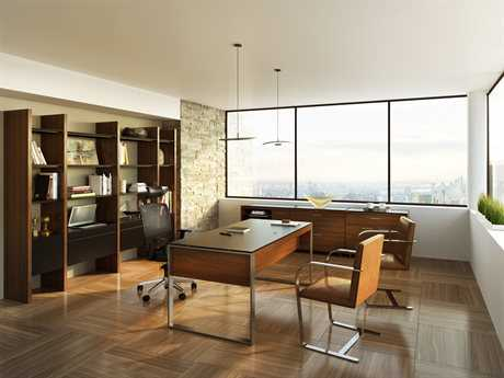 BDI Sequel Natural Walnut Executive Office Set