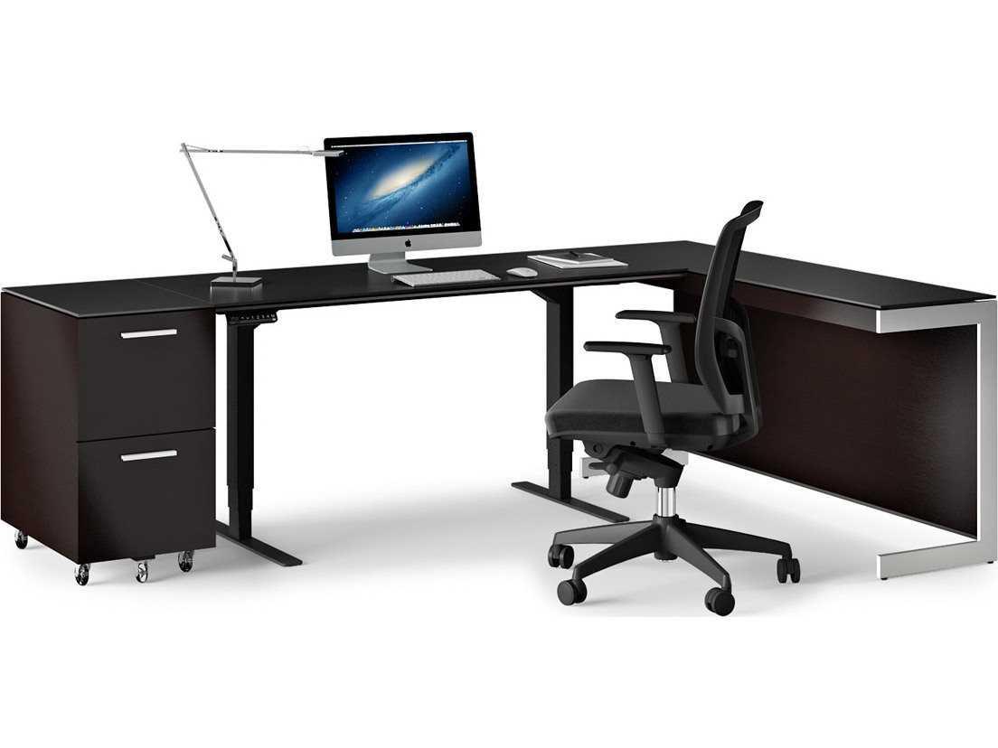 Contemporary Cappuccino Connect It Computer: BDI Sequel Espresso Stained Oak Small Lift Desk Home