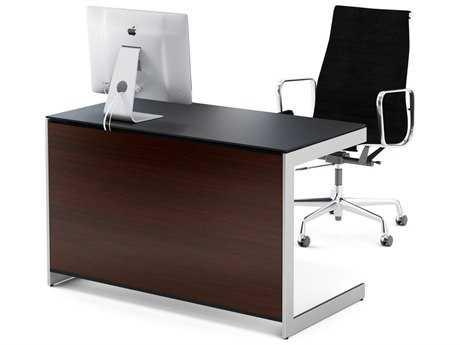 BDI Sequel 47'' x 24'' Rectangular Chocolate Stained Walnut Compact Computer Desk BDI6003CWL