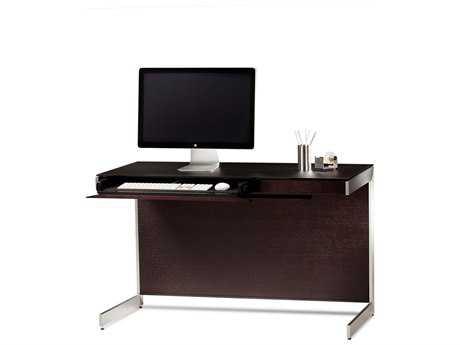 BDI Sequel 47'' x 24'' Rectangular Espresso Stained Oak Compact Computer Desk BDI6003ES