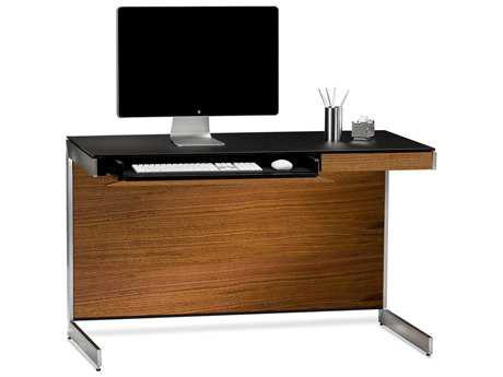 BDI Sequel 47'' x 24'' Rectangular Natural Walnut Compact Computer Desk BDI6003WL