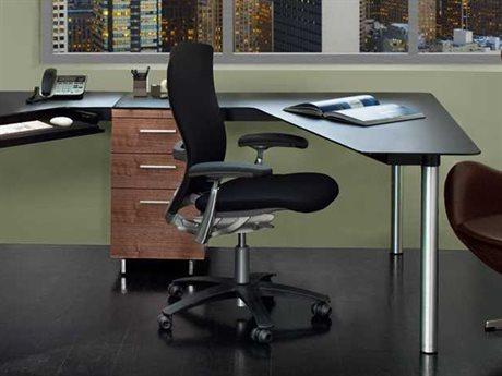 BDI Sequel 38'' x 55'' Black Peninsula Desk BDI6018