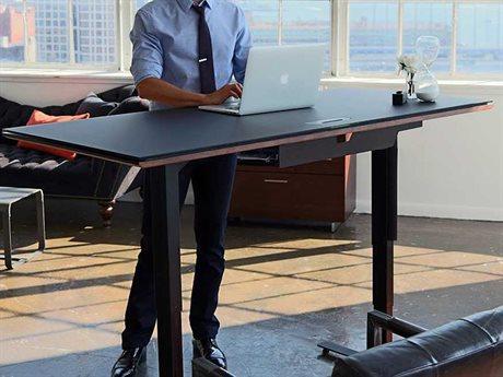 BDI Sequel 66''L x 30''W Rectangular Chocolate Stained Walnut Large Lift Desk BDI6052CWL