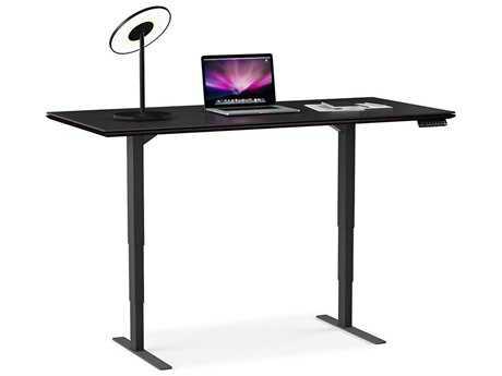 BDI Sequel 66''L x 30''W Rectangular Espresso Stained Oak Large Lift Desk BDI6052ES