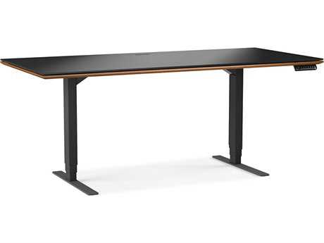 BDI Sequel 66''L x 30''W Rectangular Natural Walnut Large Lift Desk BDI6052WL