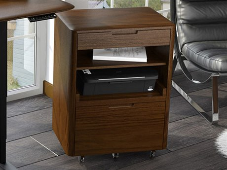 BDI Sola Toasted Walnut File Cabinet