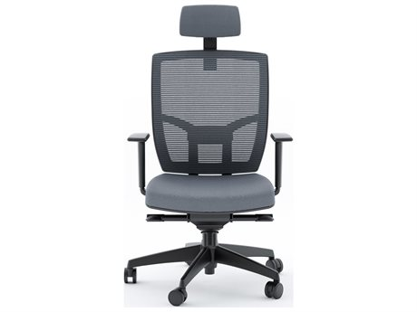 BDI TC-223 Gray Fabric Computer Office Chair BDI223DHFGRY