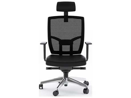BDI TC-223 Black Leather Computer Office Chair BDI223DHLB
