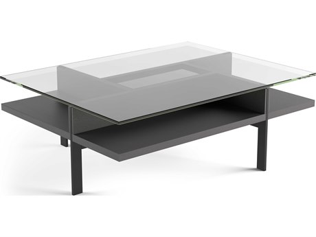 BDI Terrace Charcoal 44''L x 34''W Rectangular Coffee Table BDI1152CRL