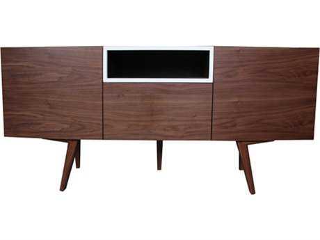 Bellini Branden Walnut with White 63''L x 18''W Rectangular Sideboard BLBRANDENSBWHT