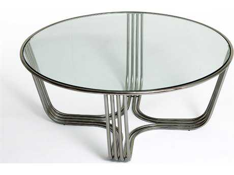 Bellini Clark Polished Stainless Steel 39'' Wide Round Coffee Table BLCLARKCT