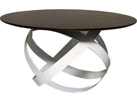 Bellini Costa Walnut & White 60'' Wide Round Dining Table BLCOSTADT60