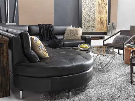 Bellini Riley Sectional Sofa Set BLRILEYSECTIONALLHFBLKSET