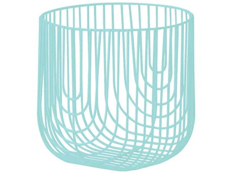 Bend Goods Basket Aqua Decorative Plate BND8BASKETAQ