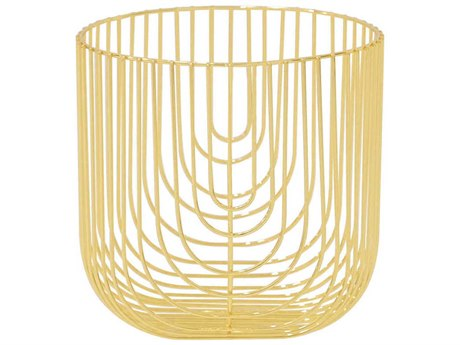 Bend Goods Basket Gold Decorative Plate BND8BASKETGD