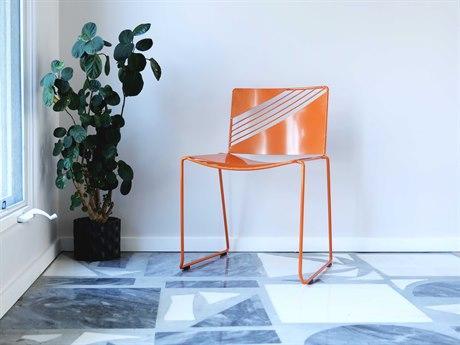 Bend Goods Cafe Orange Side Dining Chair