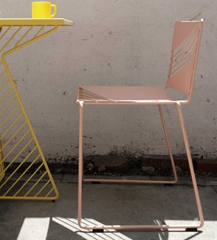 Bend Goods Cafe Pink Side Dining Chair BNDCAFECHAIRPNK