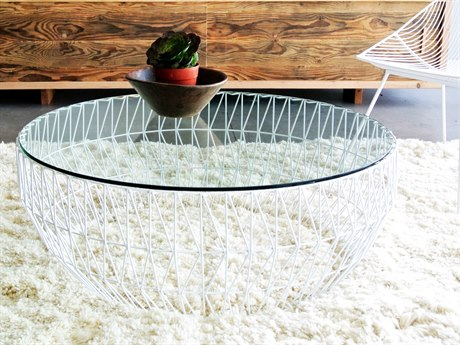 Bend Goods 36'' Wide Round Coffee Table BND36COFFEETABLEWH36GLASS
