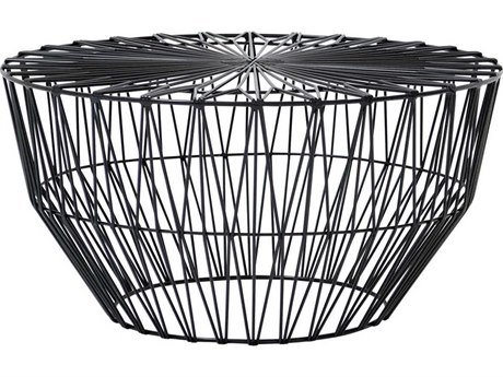 Bend Goods Drum Black 25'' Wide Round Coffee Table BNDDRUMBLK